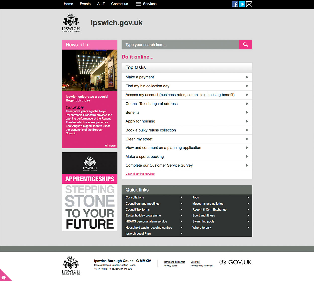 Ipswich Borough Council website