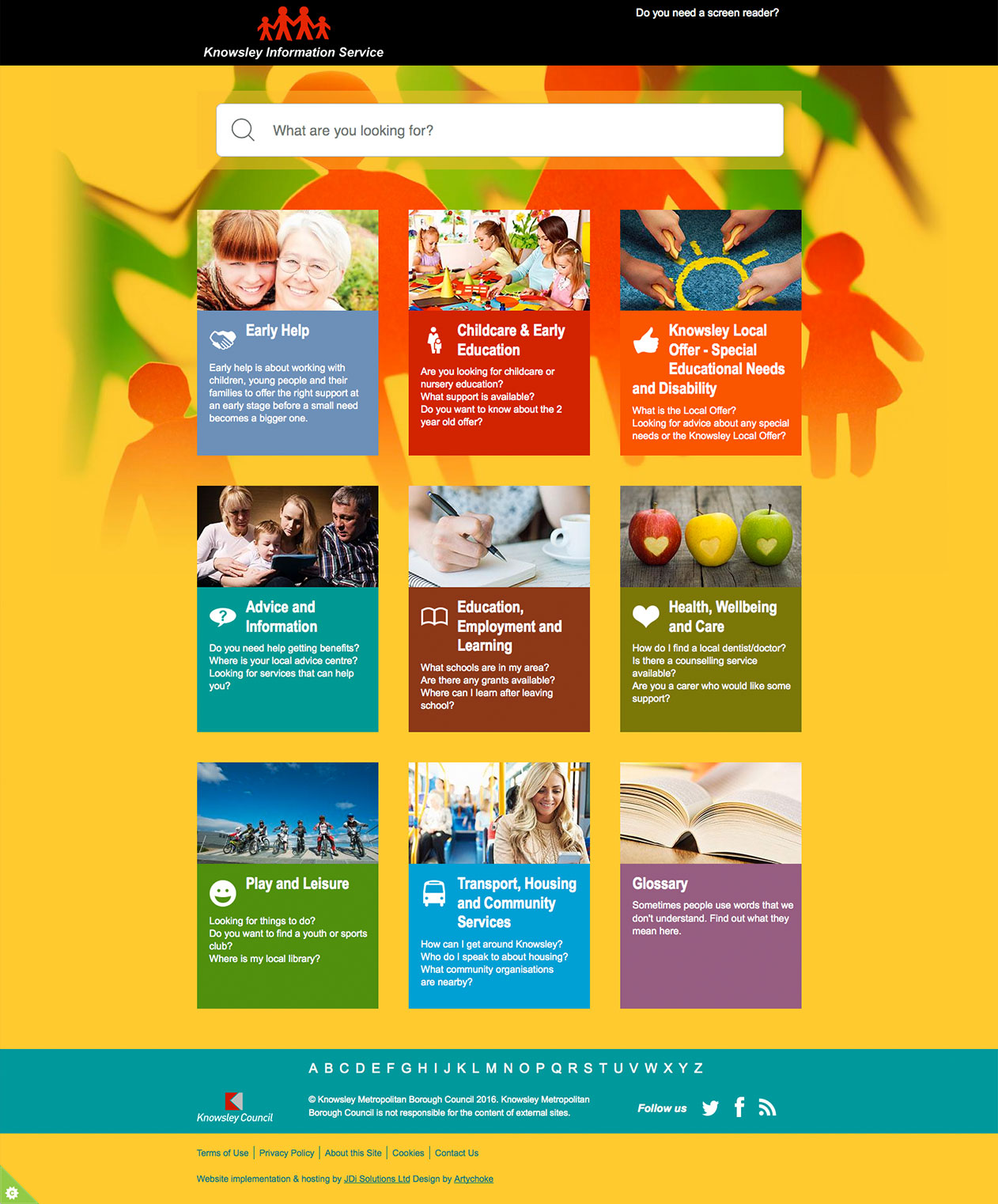 knowsley information service creative graphic design view the site all work