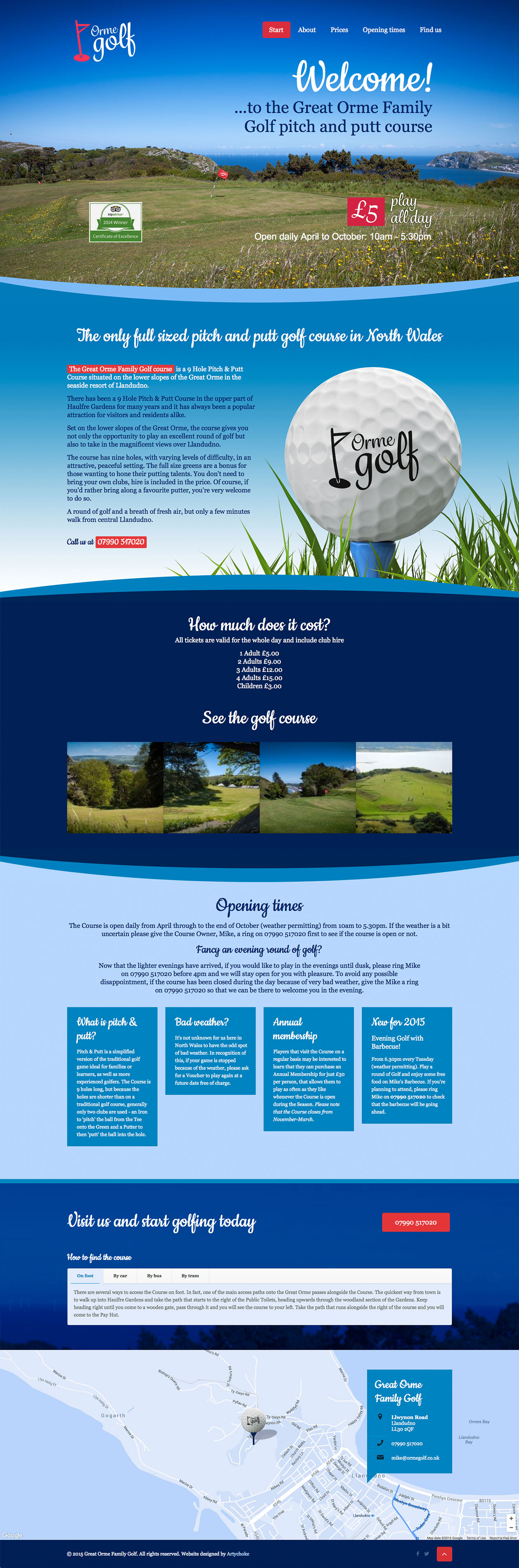 Orme Golf website