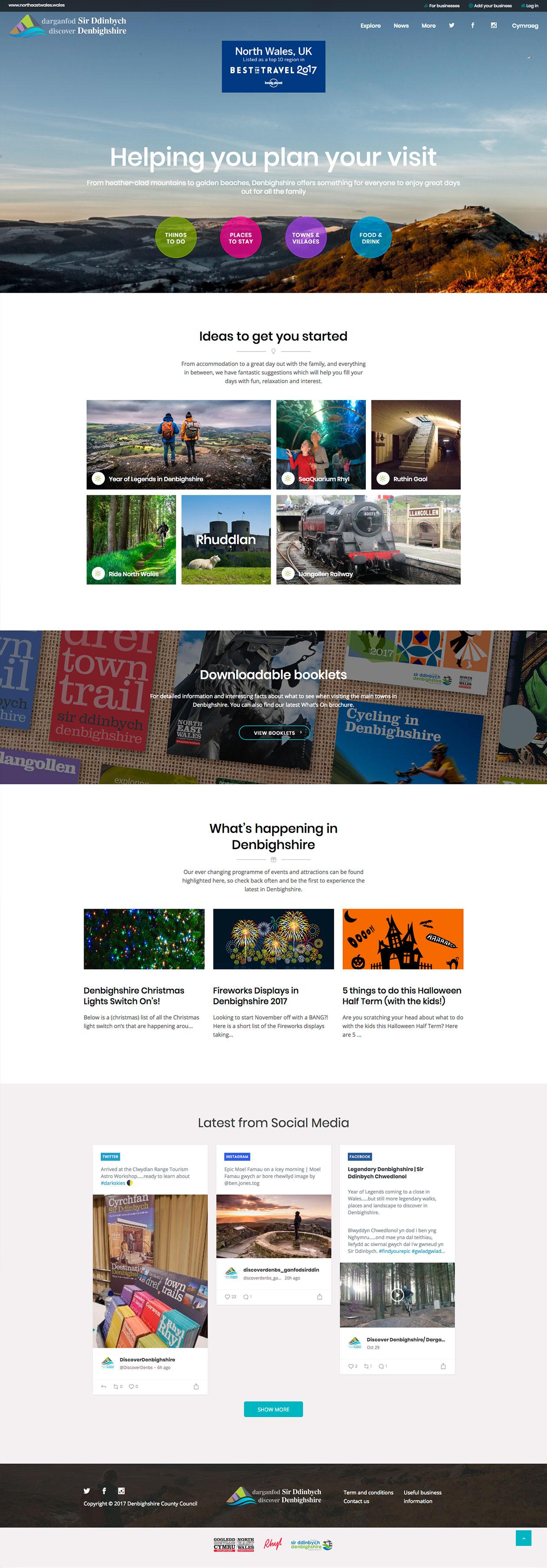 Discover Denbighshire website