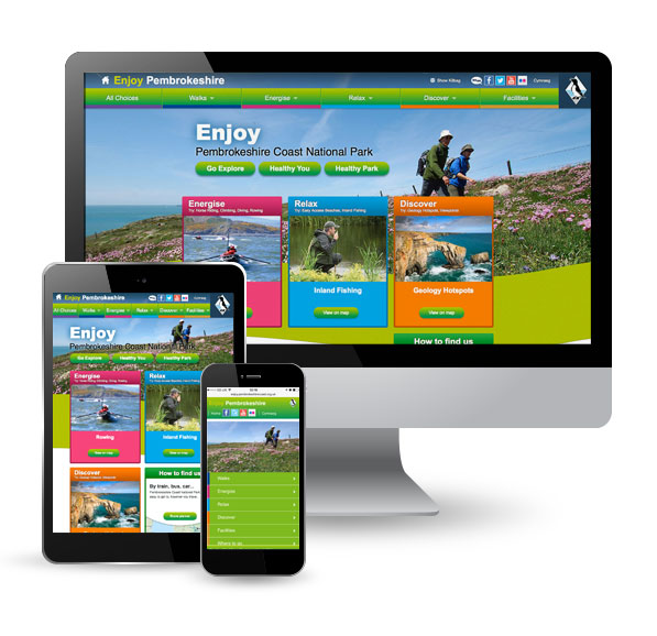 Enjoy Pembrokeshire website on pc, tablet and mobile