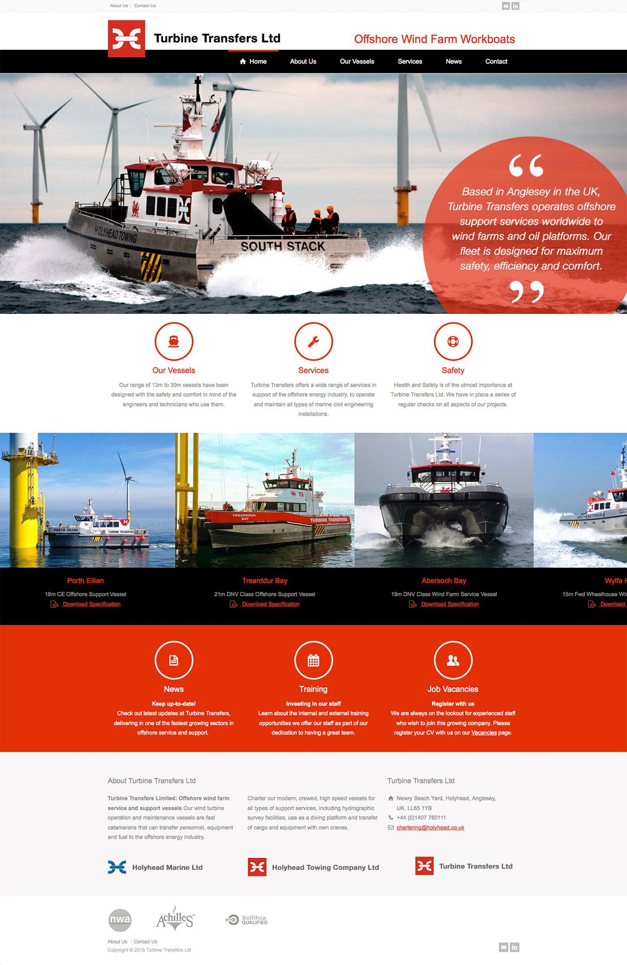 Turbine Transfers website