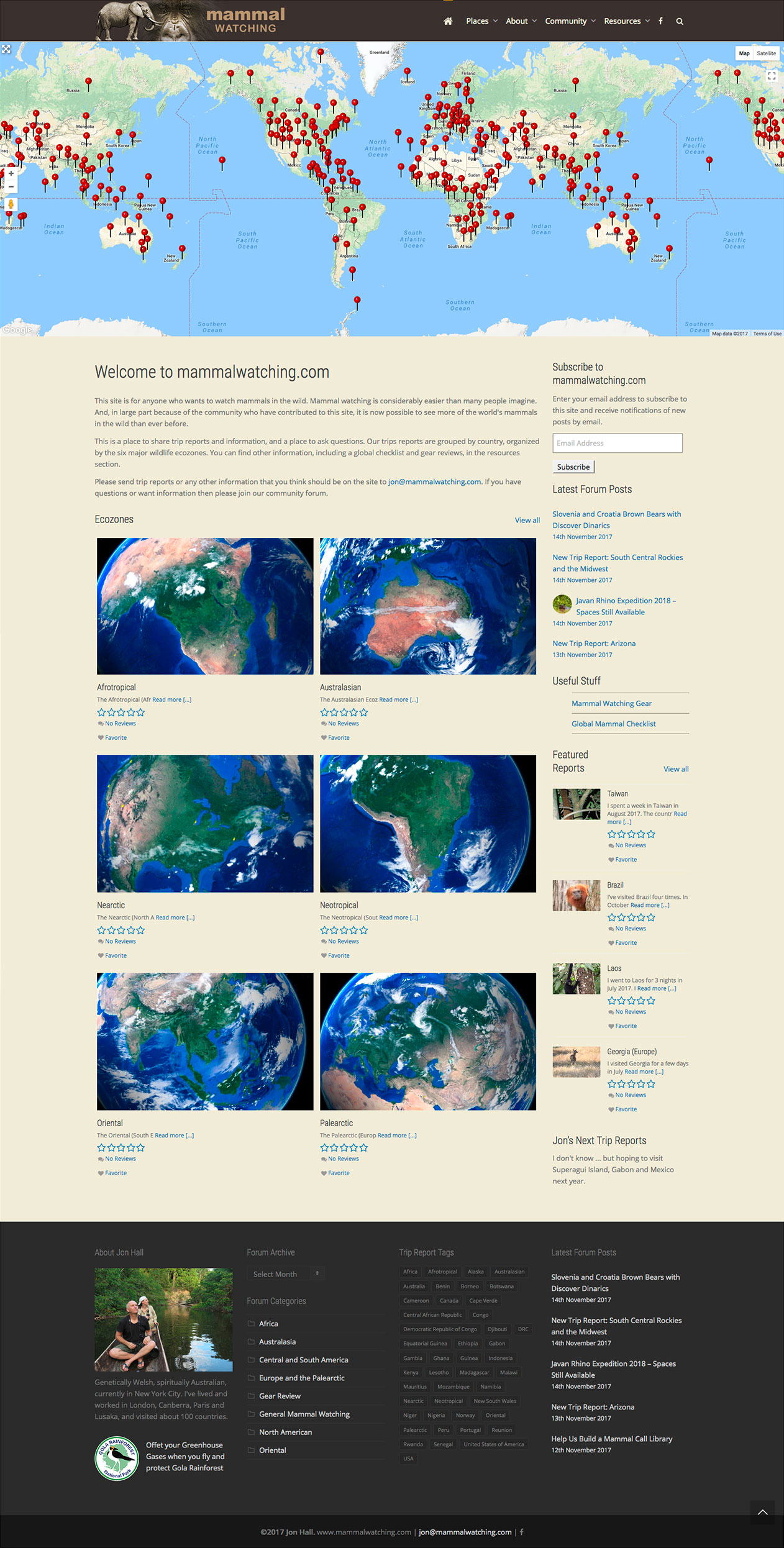 Mammal Watching homepage