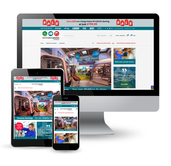 North Wales Caravans and Leisure ecommerce website